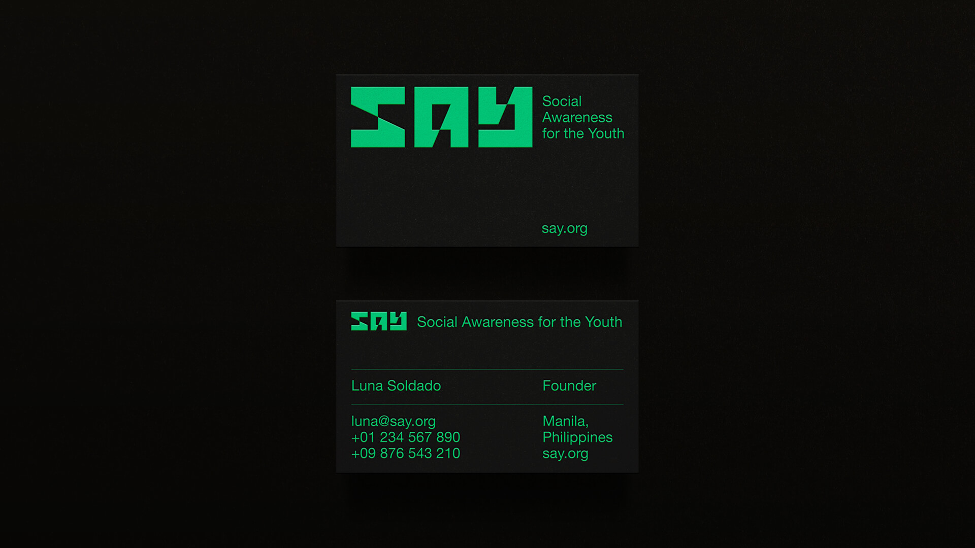 Social Awareness for the Youth Business Card
